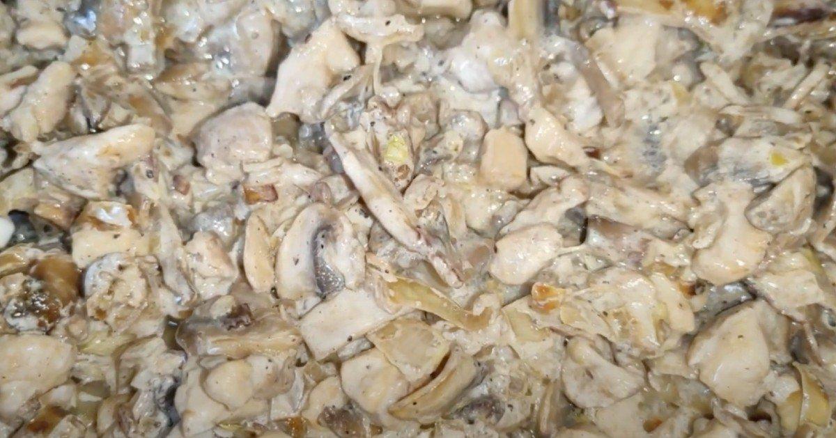 конвертики с курицей и грибами