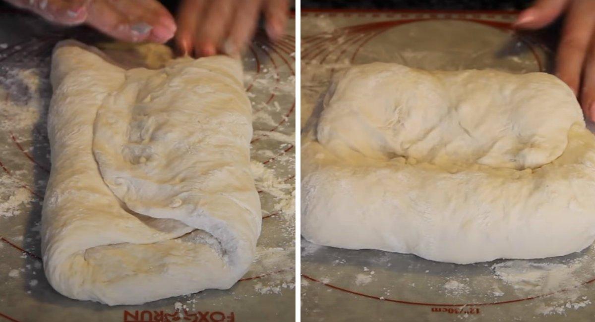 как месить тесто/></li> <li>Переложи тесто на пергаментную бумагу и накрой пищевой пленкой, смазанной растительным маслом. Оставь на 30–40 минут. <p><img src=