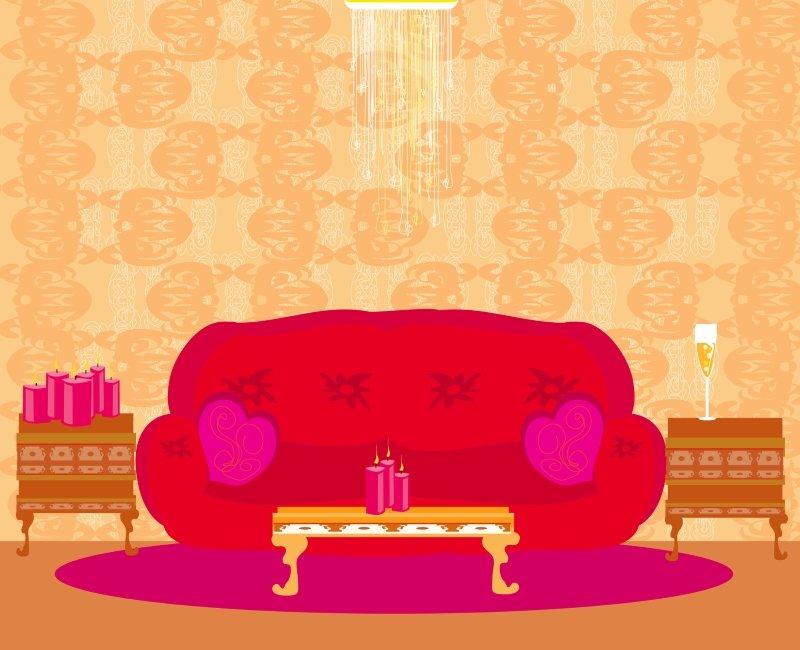 дизайн маленькой гостиной в бежевом цвете