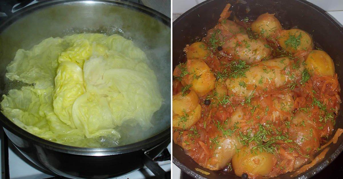 Голубцы с картошкой