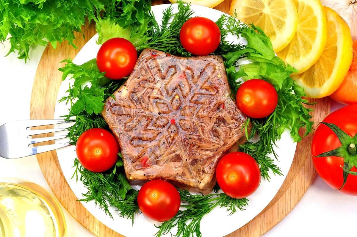 Холодец из говядины без желатина