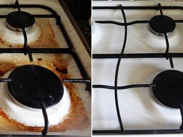 Как отмыть плиту