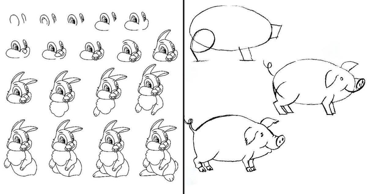 как нарисовать фламинго