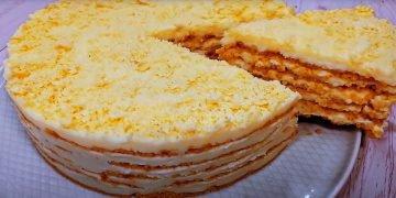 Торт «Пломбир» без выпечки