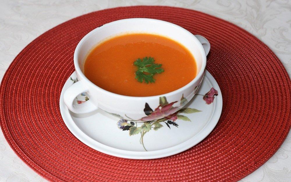 суп с запеченной тыквой